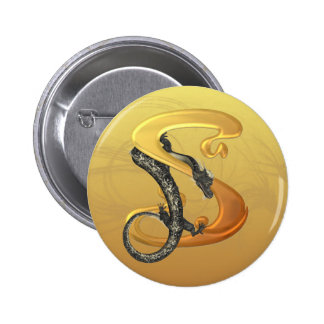 Dragonlore Initial S 6 Cm Round Badge