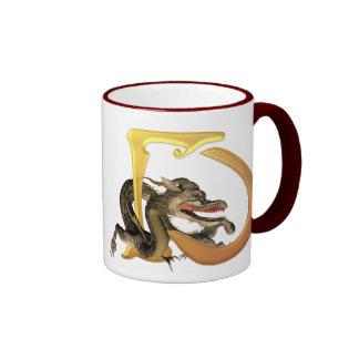 Dragonlore Initials D Coffee Mugs