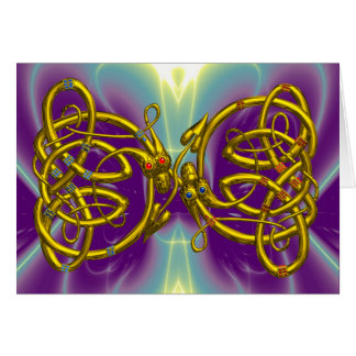 DRAGONLOVE /CELTIC KNOT DRAGONS Valentine's Day Greeting Card