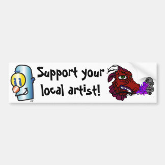 dragonred, Robot, Support yourlocal artist! Bumper Sticker