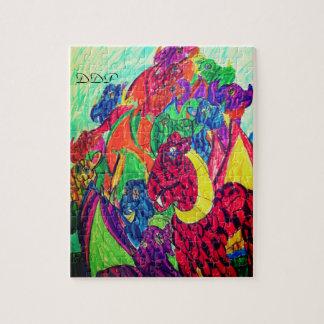Dragons art jigsaw puzzle