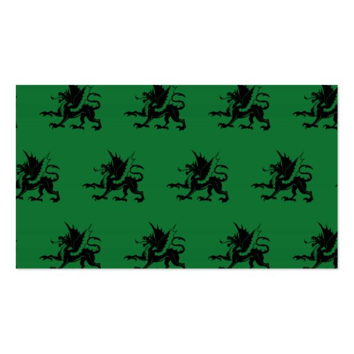 Dragons Black Green Business Cards