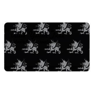 Dragons Black Grey Pack Of Standard Business Cards
