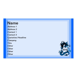 "Dragons ""Class Of"" Black and Blue Pack Of Standard Business Cards"
