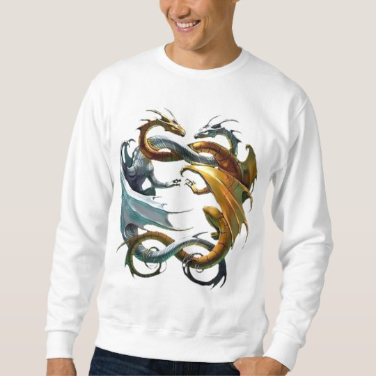 Dragons Dance - Basic Sweatshirt For Men