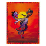 Dragons Dance Of Love By Michelle Wilder Poster
