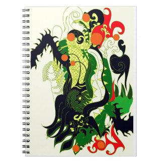 Dragons Den (Parchment) Spiral Notebook