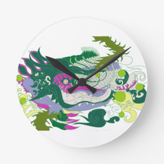 Dragons Den (Pastel) Round Clock