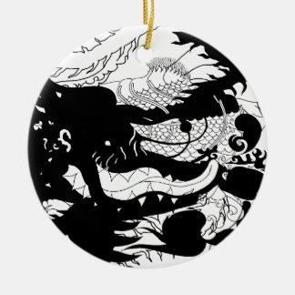 Dragons Den (Silhouette) Christmas Ornament