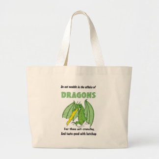 Dragons Do Not Meddle in Their Affairs Large Tote Bag