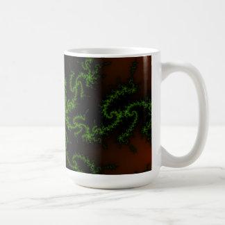 Dragon's Dream - green and red fractal art Mug
