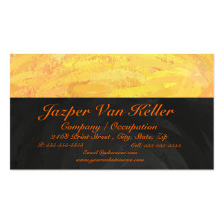Dragons Eye Orange and Black Monogram Double-Sided Standard Business Cards (Pack Of 100)