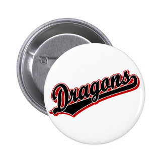 Dragons in Black and Red 6 Cm Round Badge