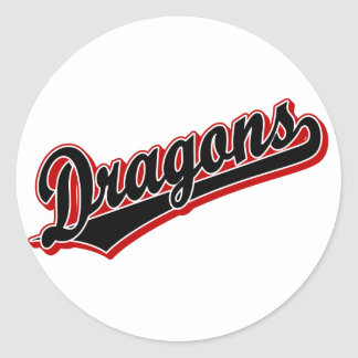 Dragons in Black and Red Sticker