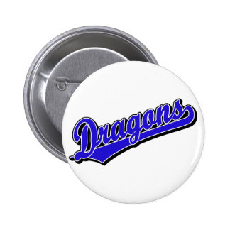 Dragons in Blue 6 Cm Round Badge