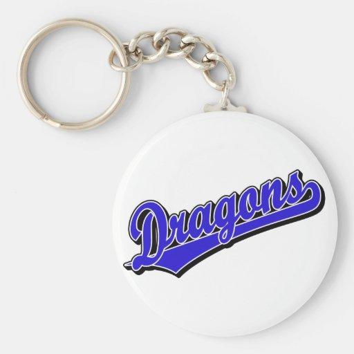 Dragons in Blue Keychain