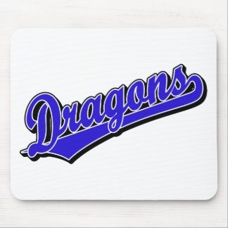 Dragons in Blue Mouse Pad