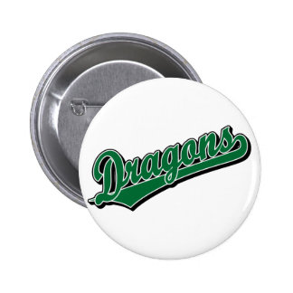 Dragons in Green 6 Cm Round Badge