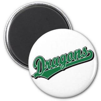 Dragons in Green Fridge Magnets
