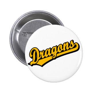 Dragons in Orange 6 Cm Round Badge