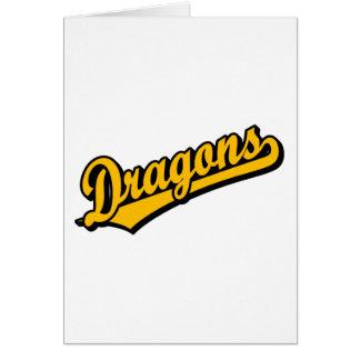 Dragons in Orange Greeting Card