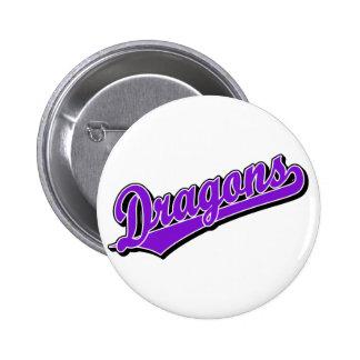 Dragons in Purple 6 Cm Round Badge