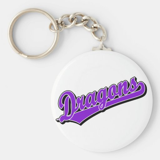 Dragons in Purple Key Chains