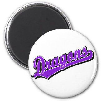 Dragons in Purple Magnet