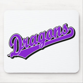 Dragons in Purple Mouse Mat
