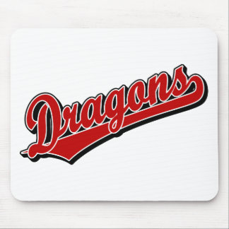 Dragons in Red Mouse Pads