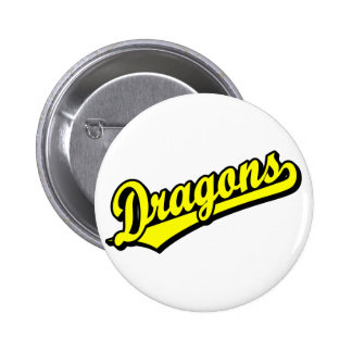 Dragons in Yellow 6 Cm Round Badge