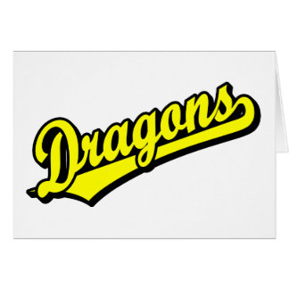 Dragons in Yellow Greeting Card