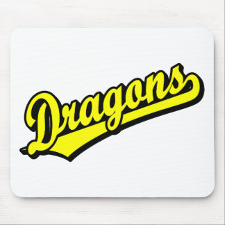 Dragons in Yellow Mouse Mat