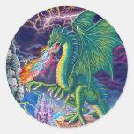 Dragon's Lair Round Sticker