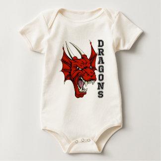 Dragons Mascot Baby Bodysuit