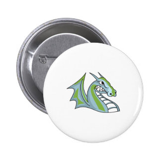 Dragons Mascot Pinback Buttons