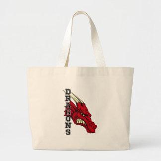 Dragons Mascot Large Tote Bag