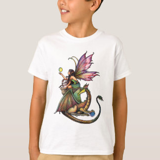 Dragon's Orbs Fairy and Dragon by Molly Harrison T-Shirt