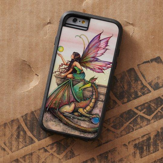 Dragon's Orbs Fairy and Dragon Fantasy Art Tough