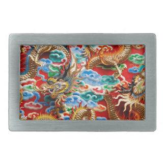 Dragons Rectangular Belt Buckle