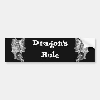 Dragons Rule Bumper Sticker