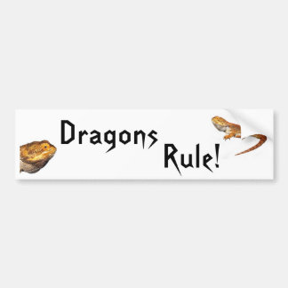 Dragons Rule! Bumper Sticker