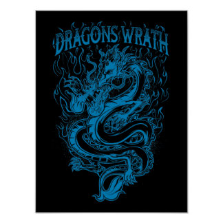 Dragons Wrath Blue Poster