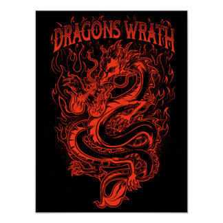 Dragons Wrath Red Poster