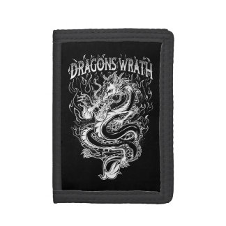 Dragons Wrath White Trifold Wallet