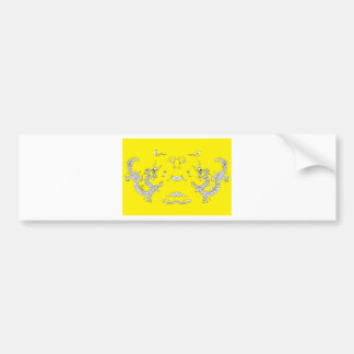 dragons-yellow bumper stickers