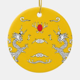 dragons-yelow.jpg round ceramic decoration