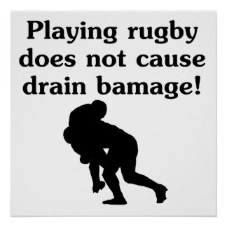 Drain Bamage Rugby Posters