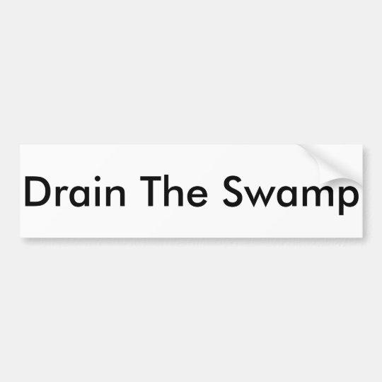 """Drain The Swamp"" bumper sticker"