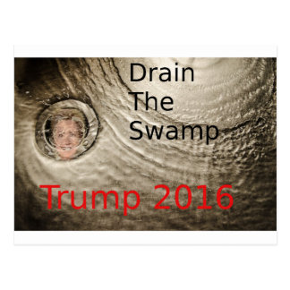 Drain The Swamp Trump-Clinton Political Design Postcard